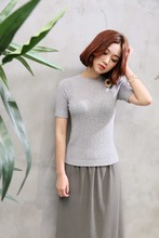 Fashion style Tight fit short sleeve t-shirts for women