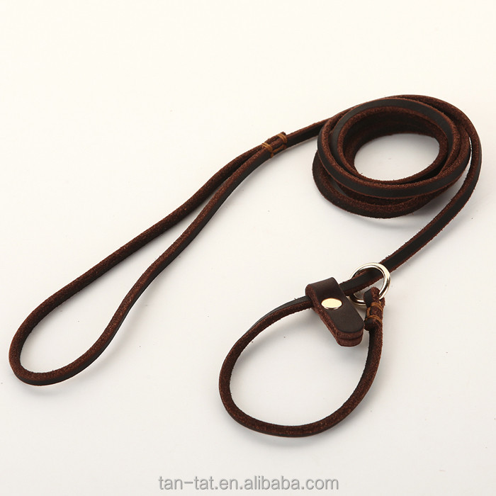 Training Running Cowhides Leather Dog Leash