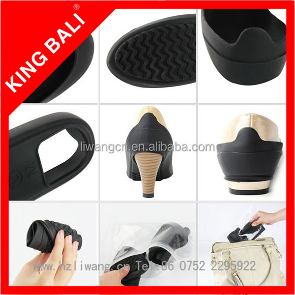 Rain Shoes Cover/Silicone Rubber High Heel Rain Boot
