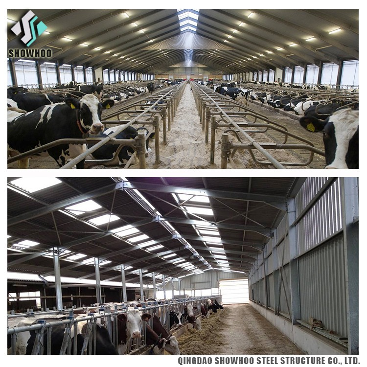 Design Structural Steel Prefab Agricultural Farm Buildings Pig Farm