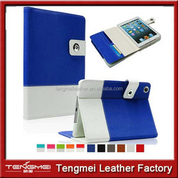 Hybird leather case for apple ipad mini 3 with 4 card slots, for ipad mini 3 case