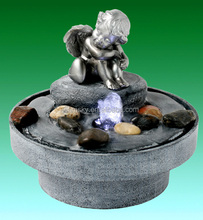 Home decoration indoor angel water fountain