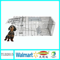 Collapsible large animal trap cage ,wild animal trap TLD2015