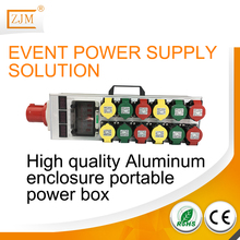 In stock outdoor waterproof Aluminum 3 phase portable power distribution box for for festival,trade show and special event