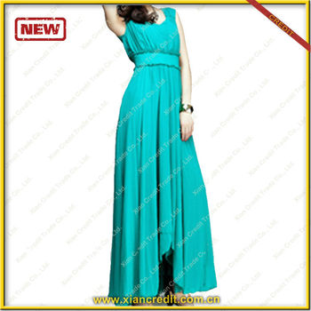 Elegant maxi dress muslim long dress