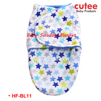 Fine Quality Fashion Printed Cute New Born Baby Security Receiving Swaddle Blanket