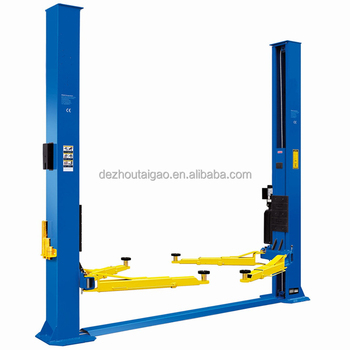 High quality reliable and energy saving 2 post free standing car lift