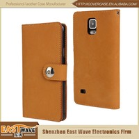 TOP Bull's Leather Skin Cellphone Case For Samsung Galaxy Note 4