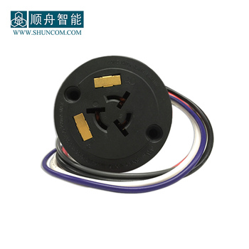 Professional 5 Pin Twist-Lock Single Lamp Controller Socket with CE Standard