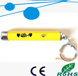 promotional small led projector torch, mini keychain light