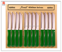 KG-N1007 12pc Fixwell Knives - New! Official Listing with Factory Warranty - Made in Germany - Stainless Steel - Green