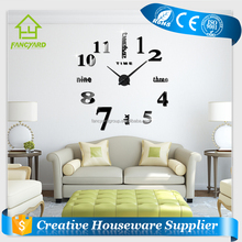 FY1001-02 Fashion Designer Large Wall Clock/ Home Decor DIY Clock 3D Wall Clock