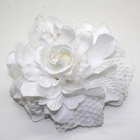 Fashion hand made hot sell fabric flower hair clips wedding