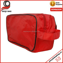 Fashion Bright Red Men Toiletry Travel Shaving Bag cosmetic makeup bag