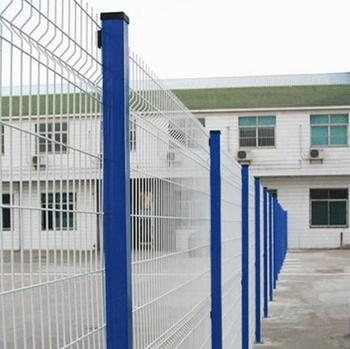welded wire mesh fencing / pvc coated metal fence with triangle bend