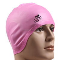 single candy color fashionable UOBOU silicone swimming caps