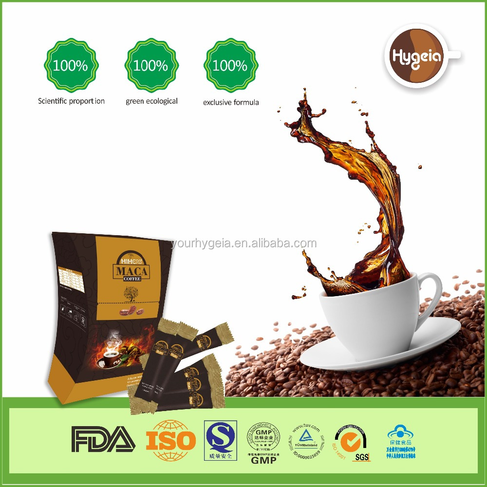 Organic power coffee for man with black MACA extracts