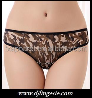 camouflage sexy bikini briefs panties for girls