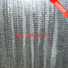 Oilproof Fireproof Metal Sequin Fabric Kitchen Curtains