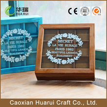 Custom Empty Rectangle Shaped Wooden Chocolate Box