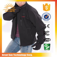 fashion clothing 2017 rechargeable battery heated jacket for taiwan