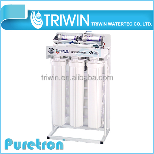 Made in Taiwan Commercial Reverse Osmosis Clear RO Water 500 gallon Water Purification