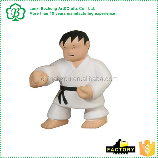 Promotional Karate Man Stress Ball with logo printed