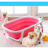 RoblionPet New Pure Colour Hot Selling Foldable Portable Dog Bathtubs
