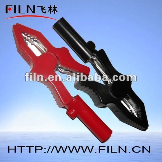 80mm plastic cover complete insulated crocodile clip