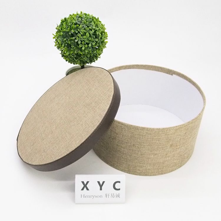 Custom cheap eco circular fabric toy cloth storage box with lid