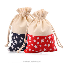 Calico Cloth Drawstring Bag for Gift Packing