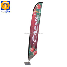high quality wholesale outdoor Beach flag swooper feather flag/flying knife banner