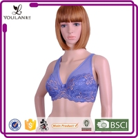 padded gather bra with clear straps