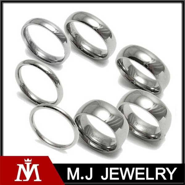 fashion jewelry stainless steel comfort fit plain wedding band ring