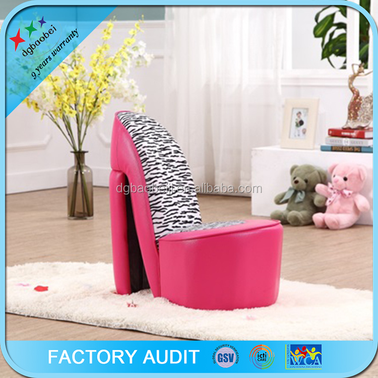 Kids high heel shoe chair furniture