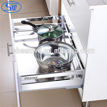Wholesale Guangzhou Factory Supply Mirror steel 304 Stainless steel kitchen drawer basket