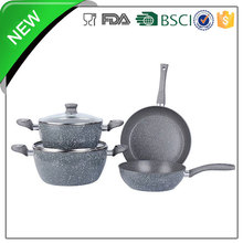 China Factory Induction Cookware marble coatting Royal Kitchen Set