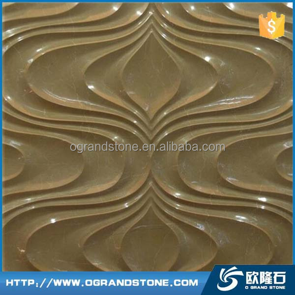 Sunny beige Marble 3d wave stone tile yellow modern 3d wall tile