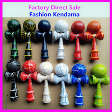 2016 High Quality Matte Crack Kendama Ball Toy For Wholesale Full Size USA, Cheap Factory Price Wooden Kendama Toy