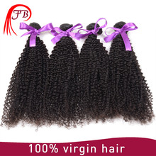 Natural kinky curly hair virgin remy indian human hair weaving