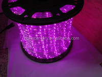 230V remote control led rope light pink color Waterproof 13MM CE GS RoHS for Europe