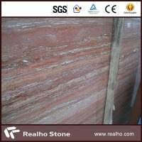 Honed and Filled Red Travertine for Sale