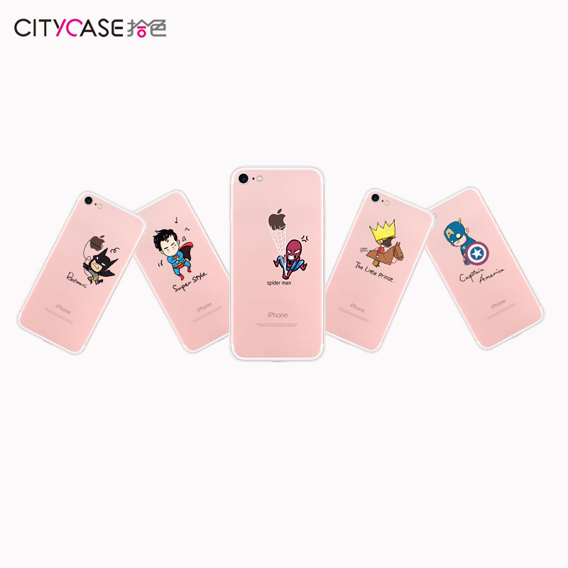 city&case 2016 hot selling ultrathin transparent tpu phone case for iPhone 6 6s With Cartoon Custom