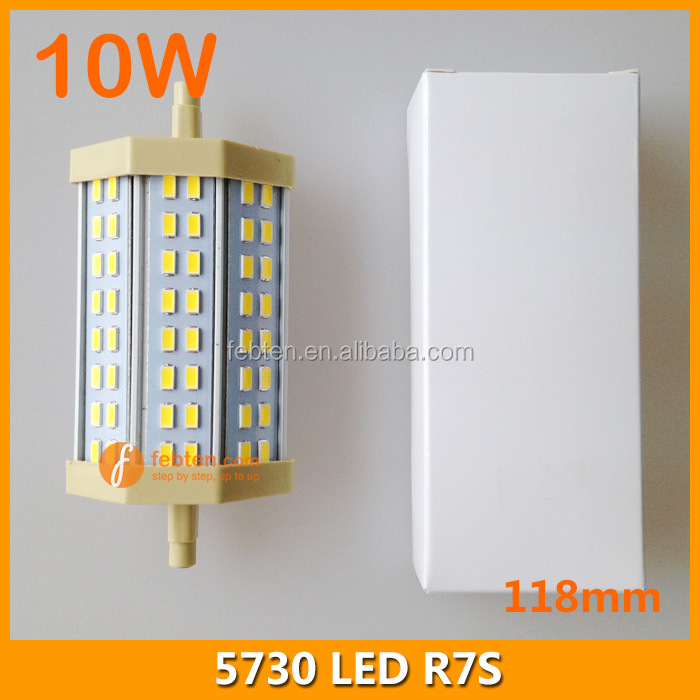 118mm 10W R7S led lamp replace halogen lamp 85-265VAC flood lighting