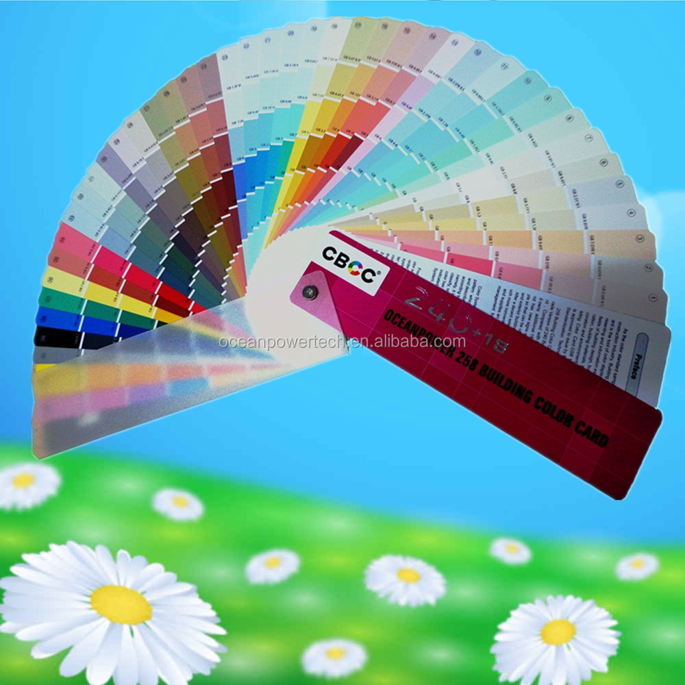 Color card / fandeck / colour code / color chart with good recognition