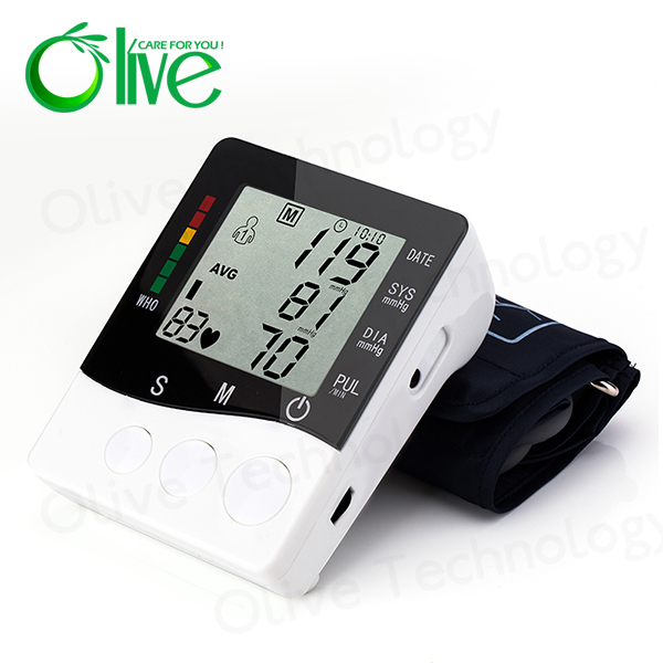 Free blood pressure monitor,digital bp machine OLV-B01