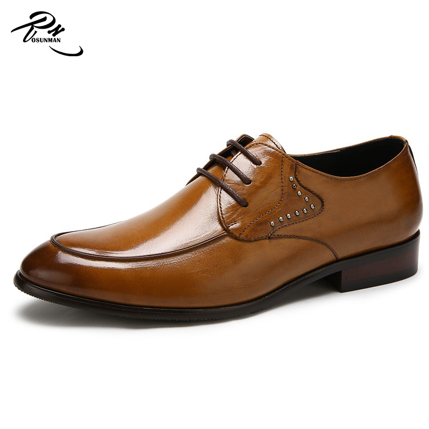 High quality mens leather dress shoes newest fashion design formal footwear oxford shoes