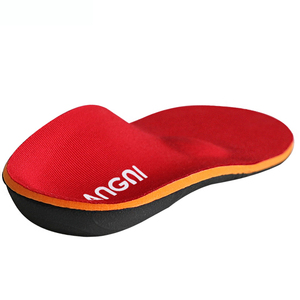 Red Arch Support Orthotic Insoles with Heel Cup for Flat Feet Insoles