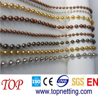 unique decorative string curtain with metal ball chain