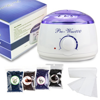 2018 Amazon Hot sell wax kits with wax warmer/wax/ waxing strips by waxkiss